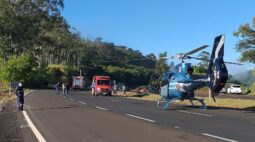Mulher é atropelada na PR-445, em Londrina próximo à Irerê; trânsito bloqueado no local