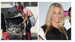Ex-modelo é flagrada procurando comida no lixo
