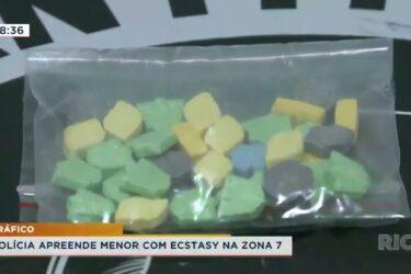 Polícia apreende menor com ecstasy na zona 7