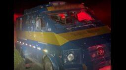 Vigilantes reagem a tentativa de assalto contra carro-forte e criminosos fogem sem levar nada