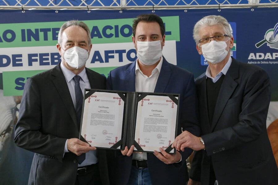 Paraná conquista status de área livre da febre aftosa sem vacinação