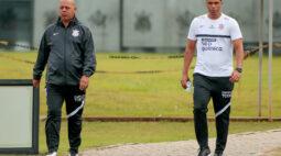 Ainda sem técnico, Corinthians segue preparação para duelo com Sport Huancayo