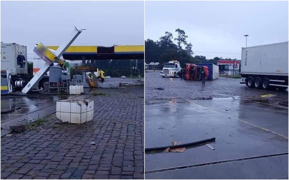 Temporal causa destruição em Santa Catarina; 70 mil casas sem energia elétrica