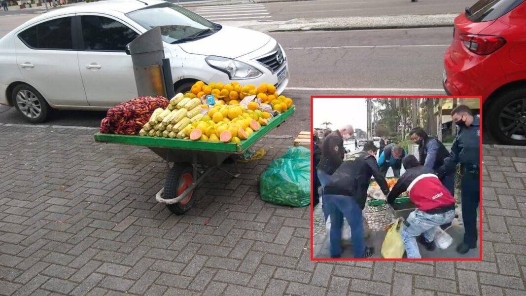 Apreensão de frutas de vendedor ambulante gera polêmica em Curitiba