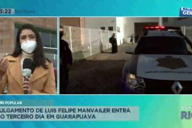 Júri popular: julgamento de Luis Felipe Manvailer entra no terceiro dia em Guarapuava