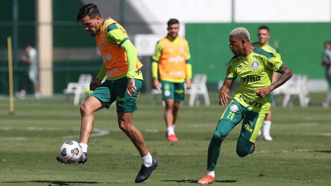 Recuperado, Wesley participa de último treino do Palmeiras antes de viagem à Argentina