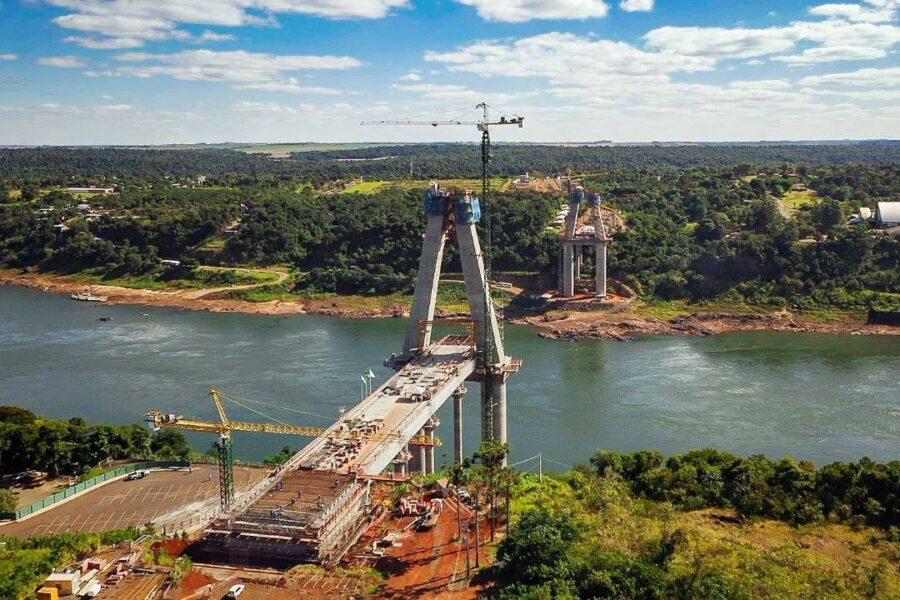 Obra da segunda ponte entre Brasil e Paraguai chega a 57% de execução; estrutura deve ser entregue em 2022