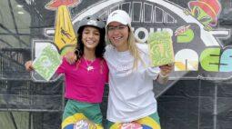 Pâmela Rosa e Rayssa Leal compõem dobradinha brasileira em torneio de skate