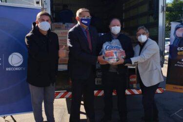 Corrente de Esperança Condor entrega 6 toneladas de alimentos para a campanha Unidos Contra a Fome