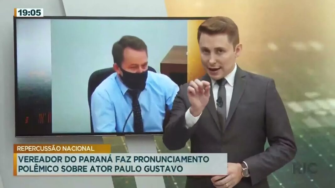 Vereador do Paraná faz pronunciamento homofóbico sobre ator Paulo Gustavo
