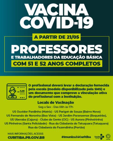 Vacinação covid-19: veja o cronograma nas principais cidades do Paraná nesta sexta (21)