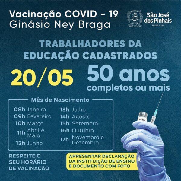 confira o cronograma nas principais cidades do Paraná nesta quinta (20)