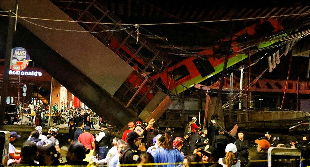 Vídeo: queda de viaduto por onde passava metrô deixa dezenas de mortos e feridos no México