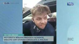Motorista bêbado provoca acidente, discute com vítimas e desacata a pollícia