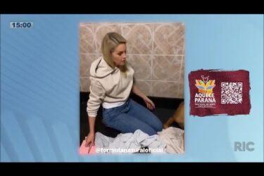 Ana Hickmann não segura o choro ao ajudar sua cadela no trabalho de parto