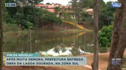 Prefeitura entrega obra de revitalização da Lagoa Dourada após grande período de atraso