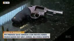PM prende dois irmãos com revólveres municiados no São Jorge, na zona norte