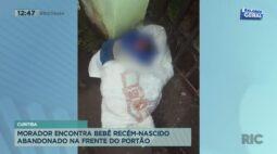 Morador encontra bebê recém-nascido abandonado na frente do portão de casa