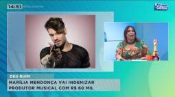 Marília Mendonça terá que pagar 60 mil reais para produtor musical