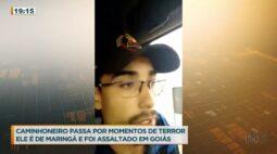 Caminhoneiro e a esposa dele são rendidos por bandidos em Goiás