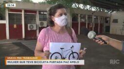 Mulher que teve bicicleta furtada faz apelo