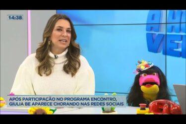 Após participar do programa 'Encontro', Giulia Be aparece chorando nas redes sociais