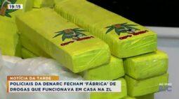 Policiais da Denarc fecham fábrica de drogas que funcionava em casa na Zona Leste