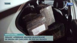 Denarc apreende grande quantidade de droga em chácara de Foz do Iguaçu