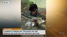 Ladrão é preso no telhado de UBS depois de furtar 100 metros de fios