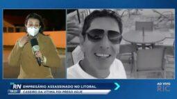 Caseiro de empresário assassinado no litoral foi preso hoje(16)