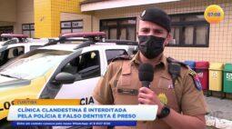 Clínica clandestina é interditada pela polícia e falso dentista é preso