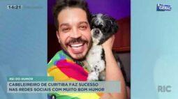 Cabeleireiro de Curitiba faz sucesso nas redes sociais com muito bom humor
