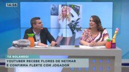 Youtuber recebe flores de Neymar e confirma flerte com jogador