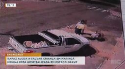 Rapaz ajuda a salvar criança em Maringá, menina está hospitalizada em estado grave