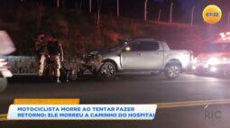 Motociclista morre ao tentar fazer retorno na BR-153 em Jacarezinho