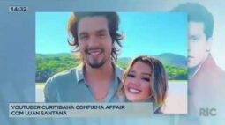 Youtuber curitibana confirma affair com Luan Santana