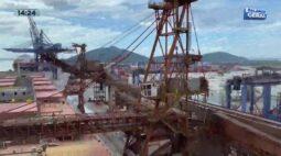 Obras no litoral: novo traçado da ferroeste recebe visita de governantes