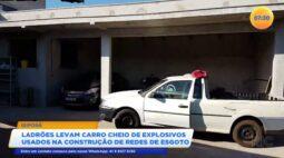 Ladrões levam carro cheio de explosivos usados na construção de redes de esgoto
