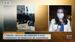 Veículo recuperado e fuzil apreendido em operação em Arapongas