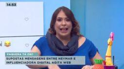 Supostas mensagens entre Neymar e influenciadora digital agita web