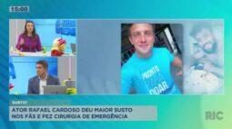Ator Rafael Cardoso passou por cirurgia de emergência e deu maior susto nos fãs