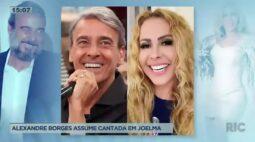 Ator Alexandre Borges assume cantada em Joelma