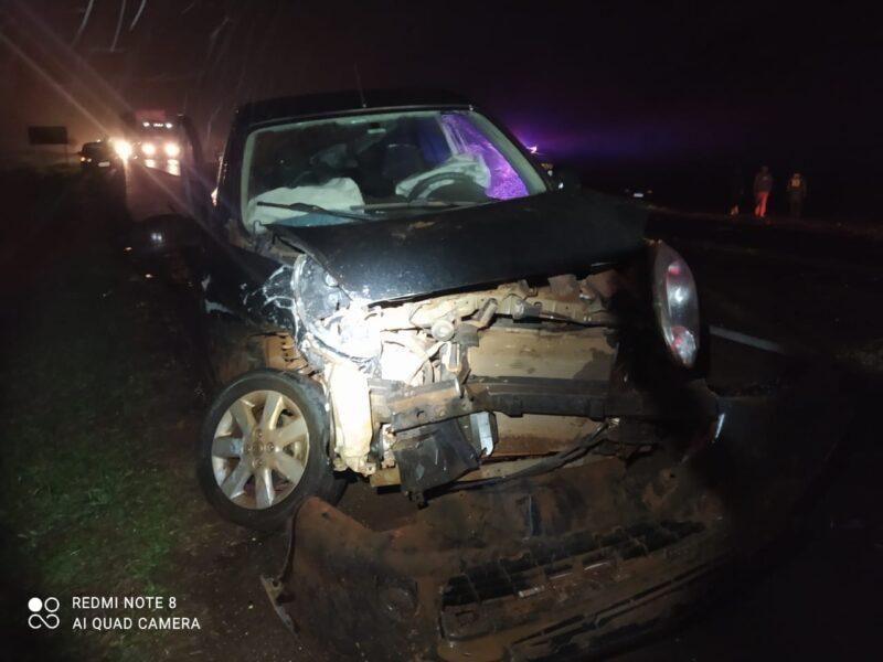 Sem CNH, condutor se envolve em acidente na BR-277