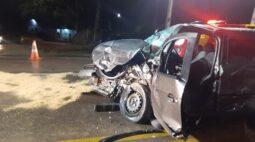 Motorista é encaminhado ao hospital em estado gravíssimo após acidente na Rodovia do Xisto