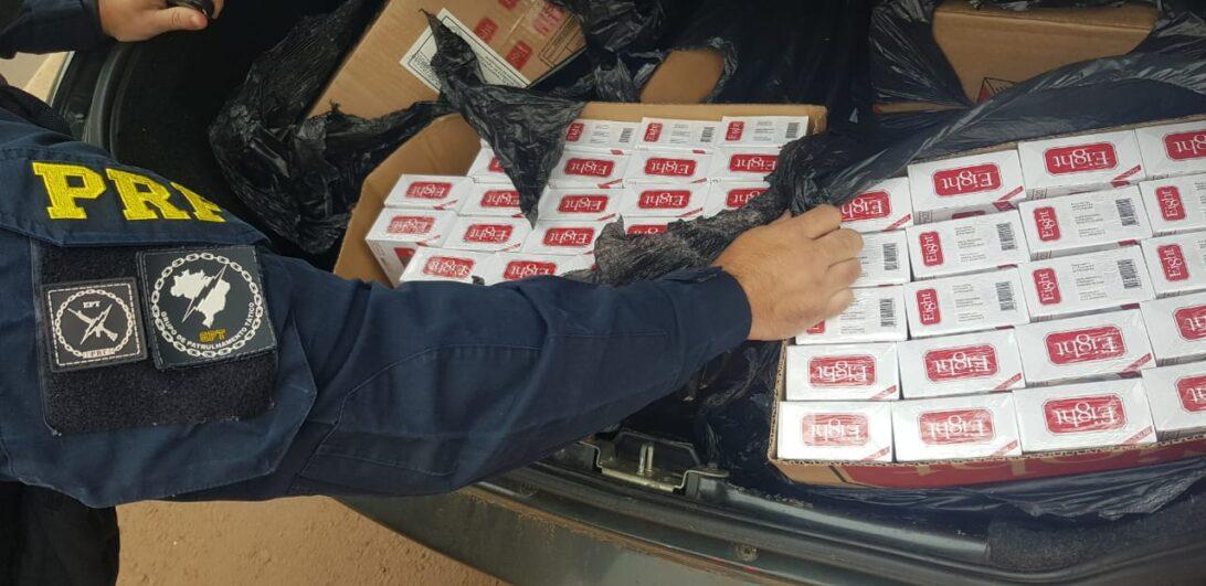 Mais de mil maços de cigarros do Paraguai são apreendidos durante patrulhamento na BR-369