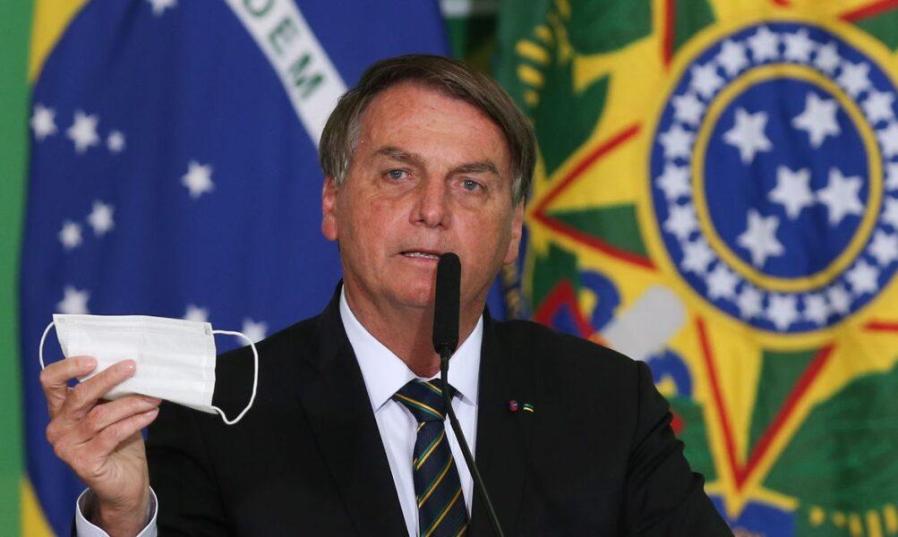 Bolsonaro pede flexibilização do uso da máscara