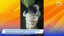 Morador encontra bebê recém-nascido abandonado na frente do portão