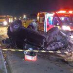 Motorista leva fechada no trânsito e morre em capotamento na BR-277