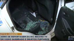 Equipe da RIC Record Londrina tem carro arrombado durante reportagem. Assista!