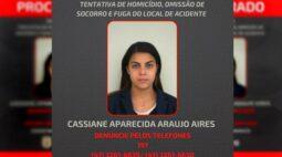Foragida: polícia divulga foto de motorista bêbada que atingiu motoboy no Rebouças